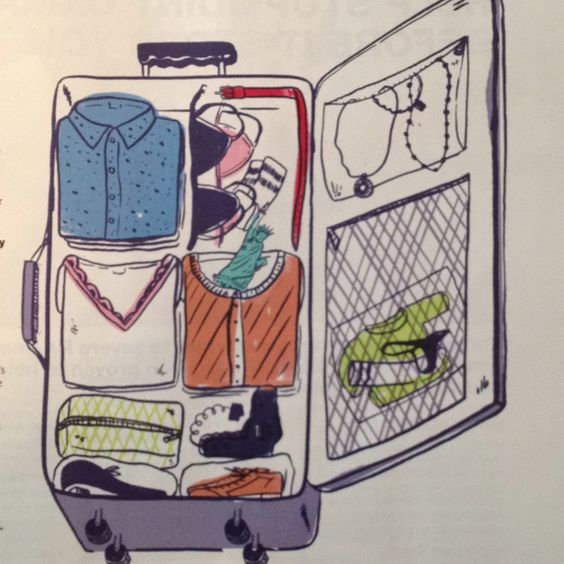How to Pack Like a Pro article in the July '12 issue of Real Simple - So helpful! Illustrations by Joel Holland