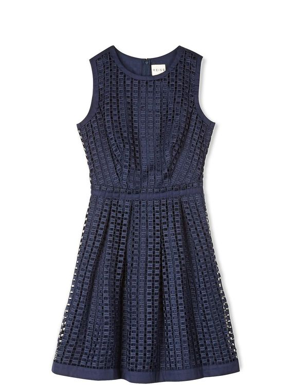Aisha Cubed Lace Dress - Navy, http://www.veryexclusive.co.uk/reiss-aisha-cubed-lace-dress-navy/1458472875.prd