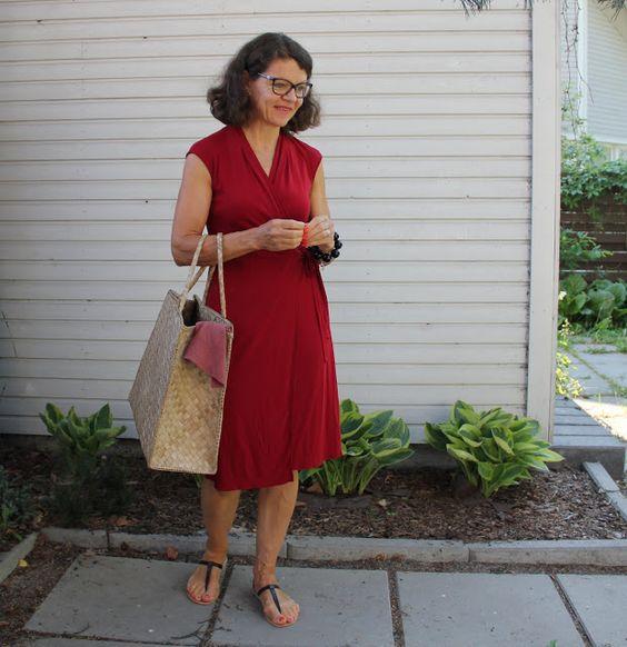 red summer dress Max Azria