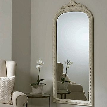 Fawn grey decorative full length mirror primrose plum for Gray full length mirror