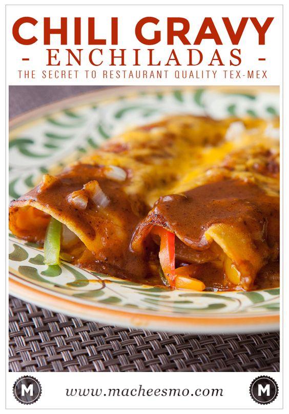 Chili gravy enchiladas is the secret to restaurant quality enchiladas ...