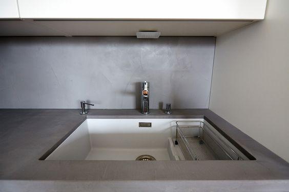 k chenarbeitsplatte und spritzschutz b ton cir original. Black Bedroom Furniture Sets. Home Design Ideas