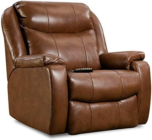 Enjoy Exclusive For Massage Big Man S Recliner Brown Transitional Solid Leather Power Recline Online Moretopshopping In 2020 Wall Hugger Recliners Southern Motion Recliner