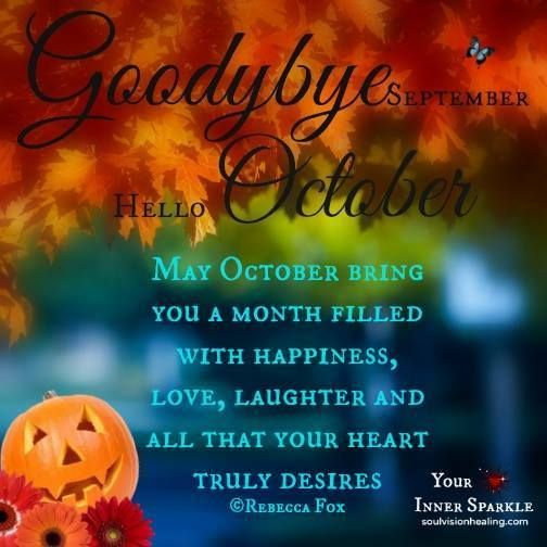 Goodbye September Hello October Month Images and Pictures