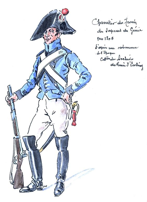French; Train of Sappers of Engineers, Charretier, 1806