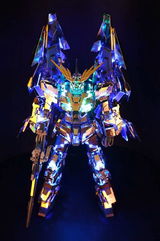 GUNDAM GUY: 1/100 Full Armor Unicorn Gundam 03 Phenex - Customized Build w/ LEDs