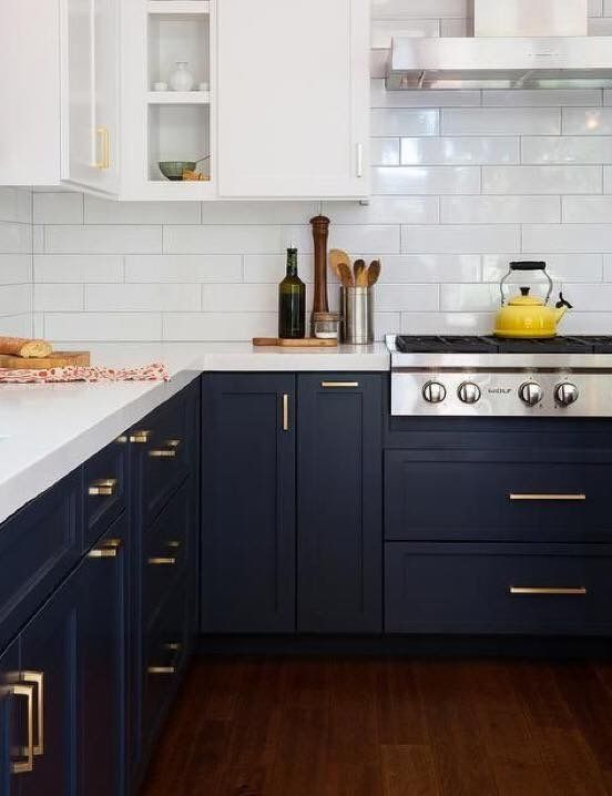Midnight Blue Kitchen Cabinets For 2018 2018colourtrends Darkblue Kitchen Interior Kitchen Design Kitchen Cabinetry
