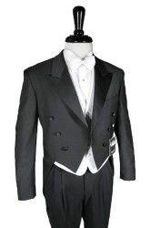 Cardi Mens Super 150s Luxury Viscose 6 Button Peak Satin Lapel Tail Coat Tuxedo