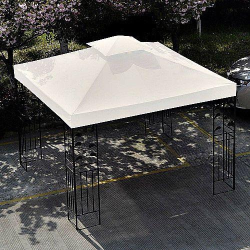 Gazebo Replacement Canopy Beige 2 Tier 10 X 10 Top Cover Outdoor Yard Shade Smartdealsmarket Patio Canopy Gazebo Gazebo Replacement Canopy
