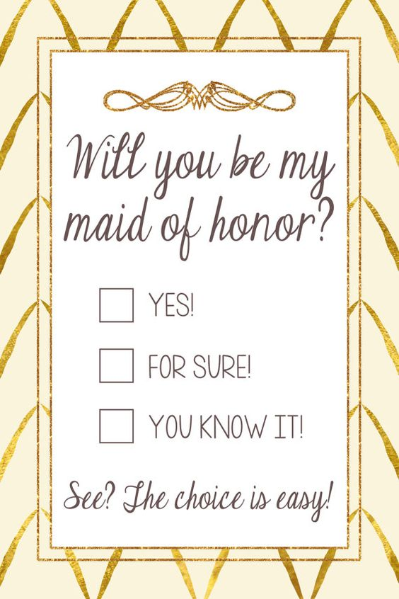Will You Be My Maid of Honor / Bridesmaids Card by LilygramDesigns