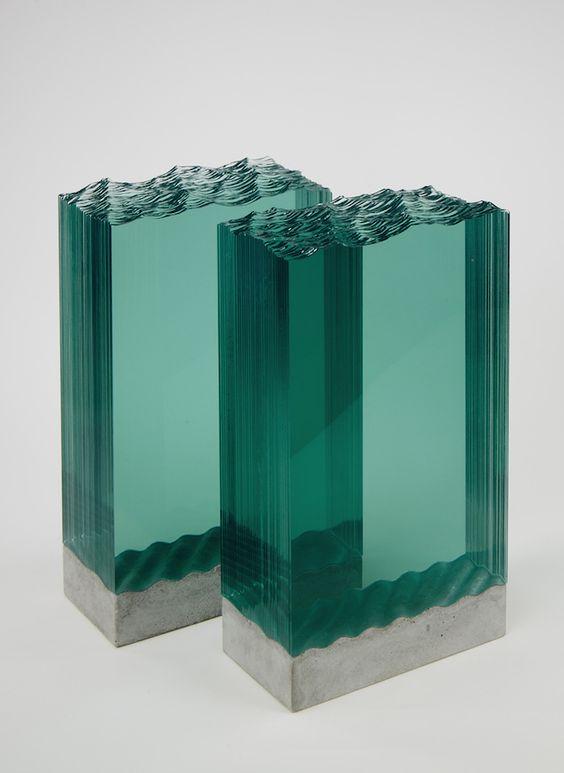 Hand Cut Glass Sculptures by Ben Young