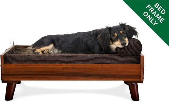 Furhaven Cat Dog Bed Frame Walnut Jumbo Chewy Com Dog Bed Frame Pet Bed Frame Bed Frame
