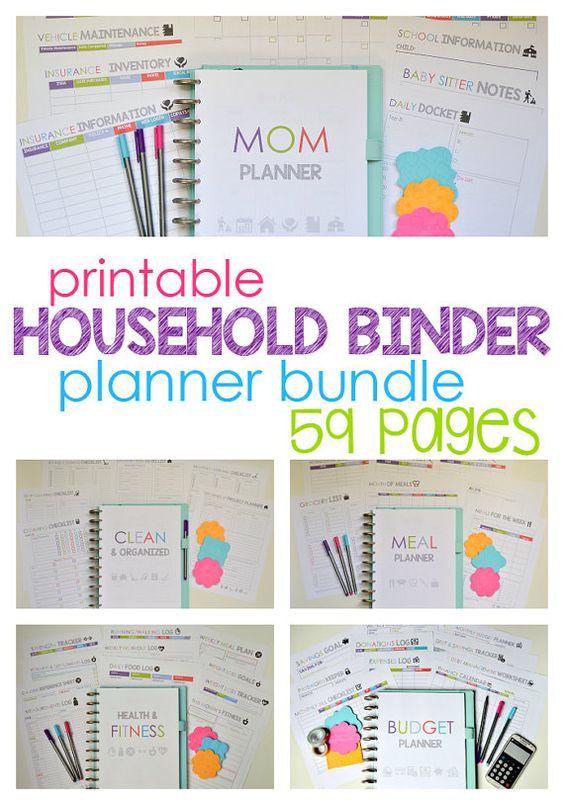Household binder households and mom planner on pinterest for Home planning binder