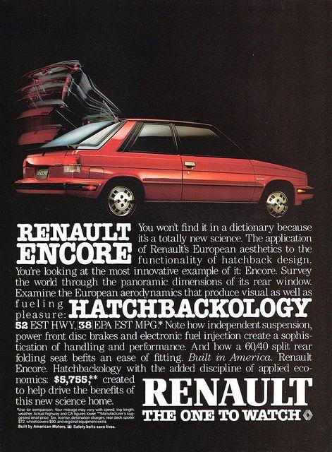 Junkyard Find: 1985 Renault Encore