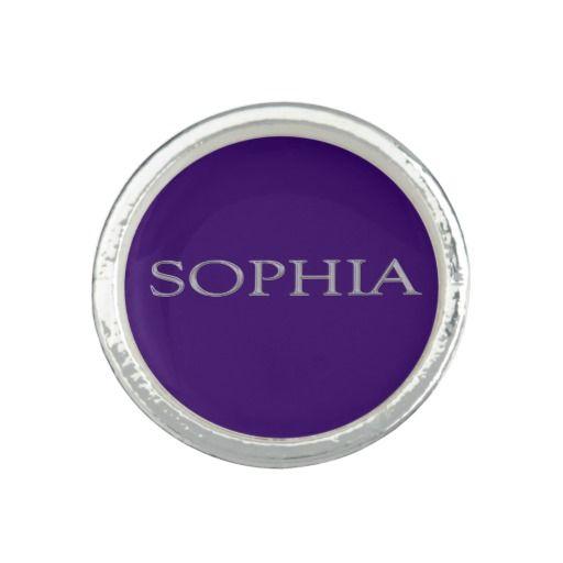Sophia Custom Name Ring
