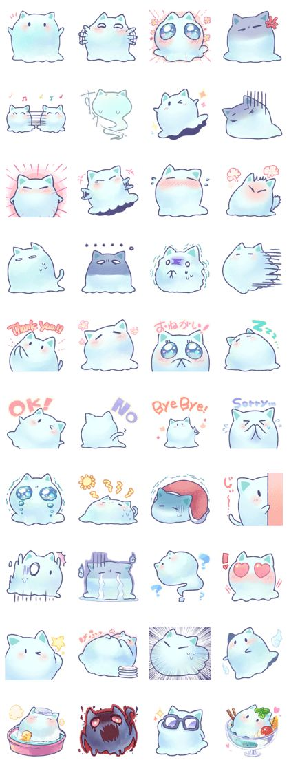 Mint, the spook of a cat - LINE Creators' Stickers
