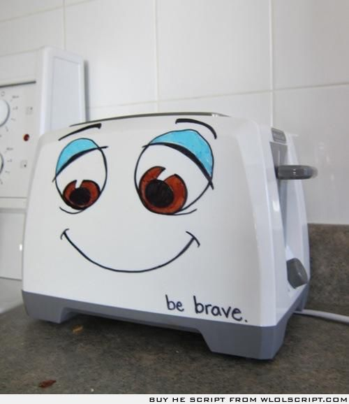 My sister did this to her toaster, it brought back so many good  memories