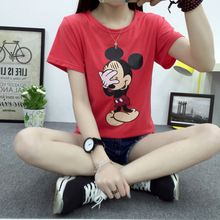 2016 nuevo verano de la camiseta del kawaii mujeres camisetas de dibujos animados manga corta t-shirt mujer novia gril estudiante tee camiseta(China (Mainland))