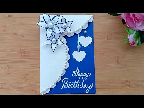 Beautiful Handmade Birthday Card Birthday Card Idea Youtube Happy Birthday Cards Handmade Simple Birthday Cards Simple Greeting Card Designs