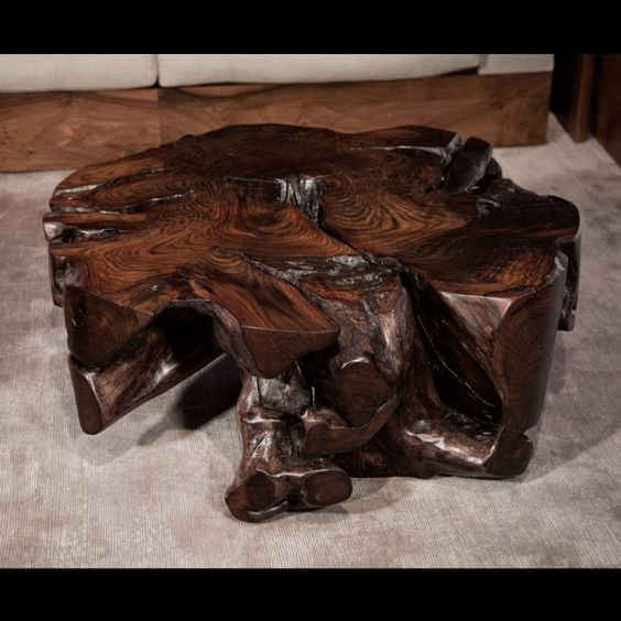 Oak Tree Root Coffee Table: Hudson Furniture, Coffee-Tables, ROSEWOOD ROOT