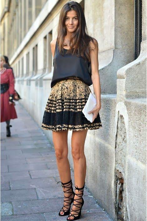 Veja como usar os diferentes modelos de saias plissada.