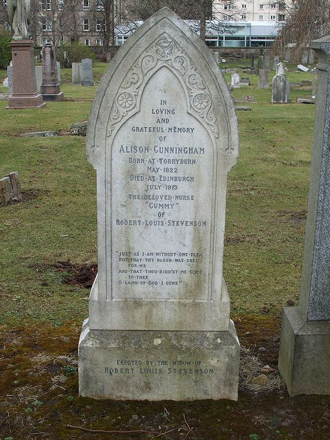 Grave of 'Cummy' the greatly loved Nanny to Robert Louis Stevenson . Morningside cemetery, Edinburgh.
