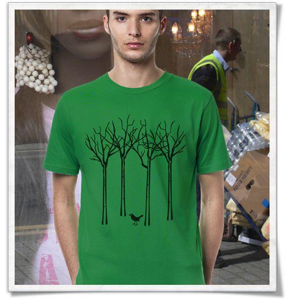 Vogel im Wald / T-Shirt für Männer ( Fair, Öko & Bio )  The bird in the forest / T-Shirt for men ( Fair, Eco & Organic )   print / tshirts / shirts / Shirt / T-Shirt /  tshirtsLove / mode / Fashion   #vogel #wald #bird #forest #fairtrade #fairwear #fairfashion #slowfashion #ethicalfashion #nachhaltig #sustainable #ecofashion #fashionblogger #slowfashionblogger #Männergeschenke  #bblogger #greenbblogger #greenliving #grünemode #bio #organic