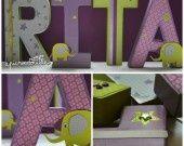 Lettres décopatch pour la chambre de Rita : Décoration par picnicdouille