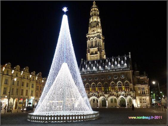 Arras : Place des Héros  Noël 2011   photo nordmag-2011