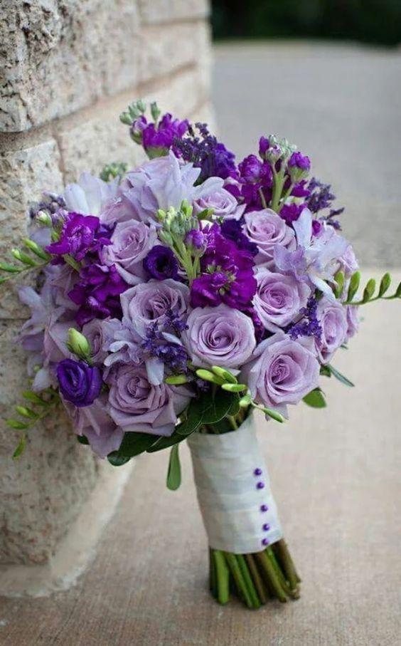 50 Elegant Purple Wedding Bouquets Diy Bridal Bouquets On A
