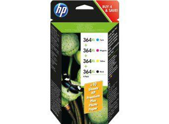 HP 364XL Cartouche d'encre d'origine Pack de 4 Cyan Magenta Jaune: Amazon.fr: Fournitures de bureau