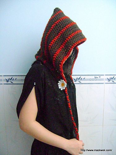 Forest girl hood pattern by Maz Kwok