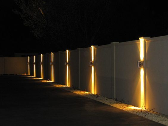 20 Contoh Desain Lampu Taman Rumah Minimalis Terbaru Backyard Lighting Fence Lighting Fence Design
