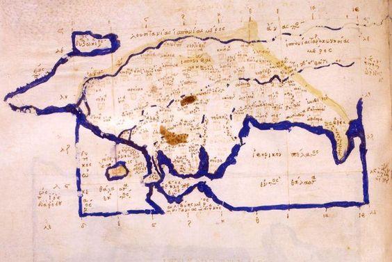 Un manuscrito bizantino que data del siglo XIV reproduce el mapa de la Bética romana de Ptolomeo
