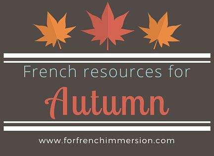 French Fall Resources for your Classroom