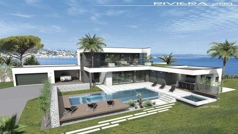 Vues Exterieures Villa Contemporaine Villa Design Contemp Toit Terrasse Maison Moderne Photo Maison Moderne Maison Moderne Maison Contemporaine
