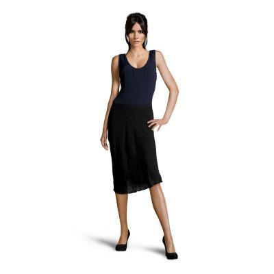 JOSEPH - Silk dress in navy blue, black