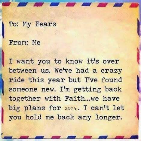Bye bye fears