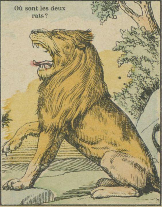 Imagerie d'Epinal.  #gallica #devinette #images #hideandseek #riddles #lion