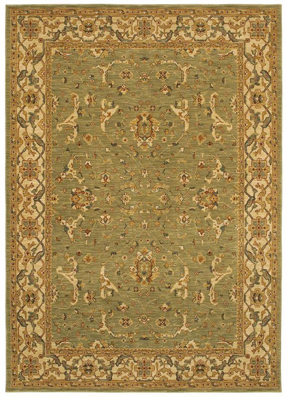 Shaw Kathy Ireland International First Lady Somerset House State Garden Green (23300) Area Rugs