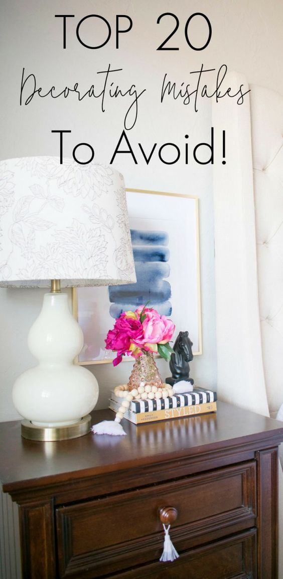 Chic Top Decorating Mistakes