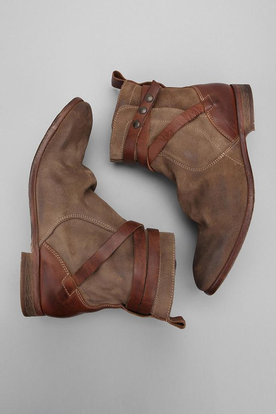 Buckley Wrap Leather Boots / H By Hudson
