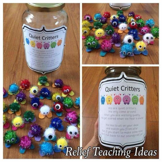 Quiet Critters - place on children's desks during lessons if they are working quietly.