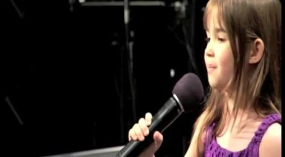 "7 year old Kaitlyn gives Eulogy for Grandfather and sings ""There Will Be A Day"""