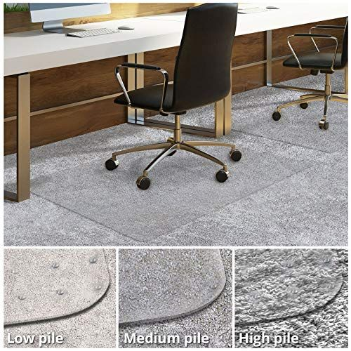Office Chair Mat For Carpeted Floors Desk Chair Mat For Carpet Clear Pvc Mat In Different Thicknesses And Sizes For Every Pile Type Medium Pile 30 X48 With Lip