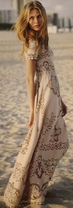 ☮ American Hippie Bohemian Style ~ Boho Dress: