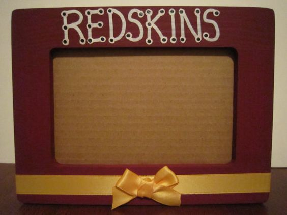 Washington Redskins Team Color Glitter Metal Frame