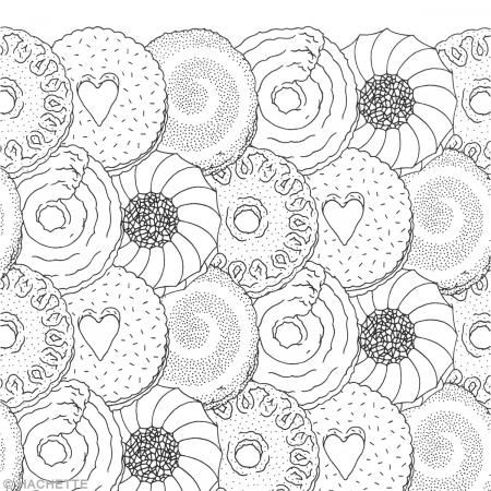coloriage anti stress gourmandise