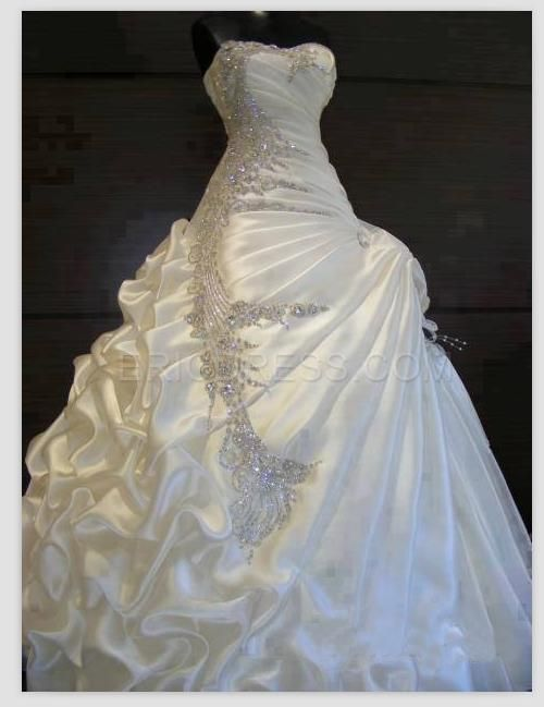 Exquisite Ball Gown Sweetheart Ruffles Beading Wedding Dress ...