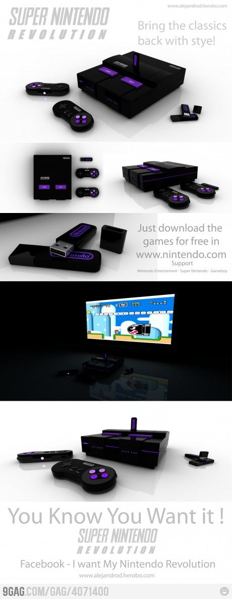 Super Nintendo Revolution! I would have an absolute nerdgasm if this was real!!